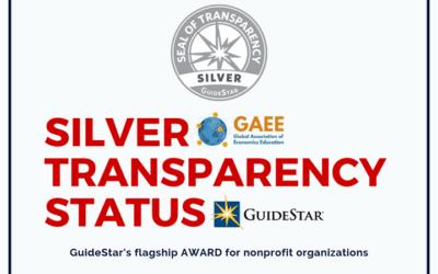GAEE to receive prestigious GuideStar's Silver Transparency Status
