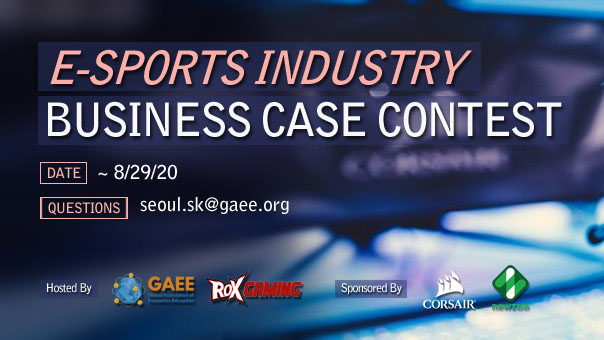 GAEE and ROX Gaming to launch the 2020 E-Sports Industry Business Case Contest